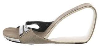 United Nude Canvas Wedge Sandals