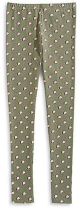 MANGUUN Rose Print Stretch-Cotton Leggings