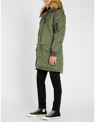 The Kooples Faux fur-trim hooded shell jacket