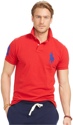 Polo Ralph Lauren Men's Custom-Fit Big Pony Mesh Polo Shirt $98.50 thestylecure.com