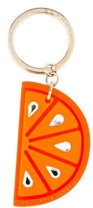 Charlotte Olympia Orange Swarovski Keychain w/ Tags