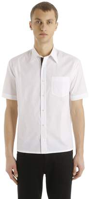 Fendi Ff Band Cotton Poplin Short Sleeve Shirt