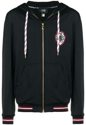 Class Roberto Cavalli logo patch zipped hoodie