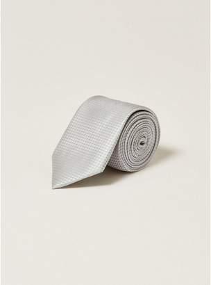 Topman Mens Silver Textured Tie