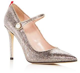 Sarah Jessica Parker Women's Wellington Glitter Mary Jane High-Heel Pumps