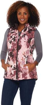 Denim & Co. Printed Reversible Vest with Pockets