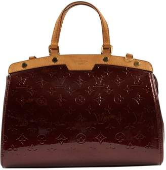 Louis Vuitton Burgundy Patent leather Handbag