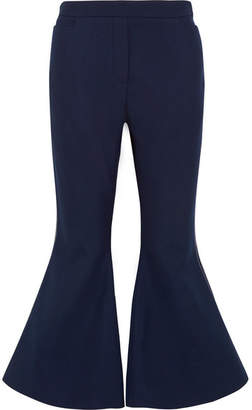 Ellery Cantina Crepe Flared Pants - Navy