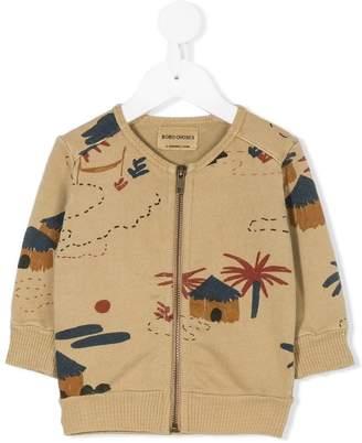 Bobo Choses Gombe hut print cardigan