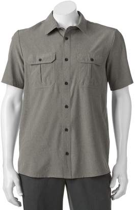ZeroXposur Men's Tour Travel Series Classic-Fit Performance Button-Down Shirt