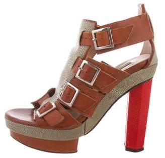 Chrissie Morris Ida Stingray Platform Sandals