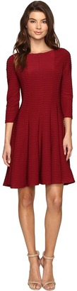 Christin Michaels Andrea 3/4 Sleeve Fit and Flare Dress $98 thestylecure.com