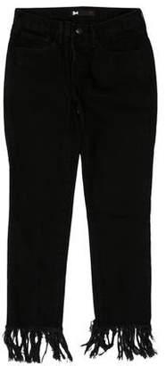 3x1 NYC Mid-Rise Fringe Hem Jeans