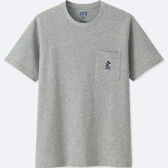 Uniqlo Mickey Blue Short-sleeve Graphic T-Shirt