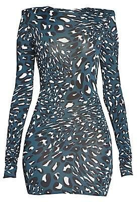Alexandre Vauthier Women's Leo Stretch Satin Ruched Mini Dress