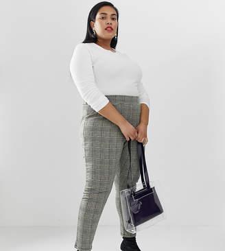 Junarose high waist check tapered pants