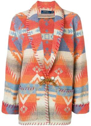 Polo Ralph Lauren geometric cardi-coat
