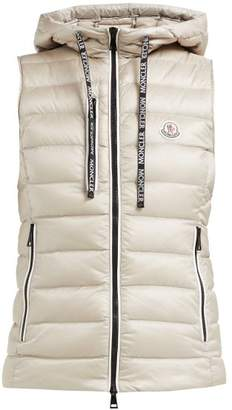 Moncler Sucrette Hooded Quilted Down Gilet - Womens - Beige