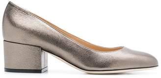 Sergio Rossi chunky heel metallic pumps