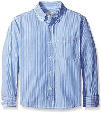 Scout + Ro Little Boys' Long-Sleeve Stripe Poplin Shirt