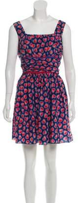 Anna Sui Sleeveless Printed Dress