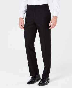 Ryan Seacrest Distinction Men's Slim-Fit Stretch Black Prom Suit Pants, Created for Macy's
