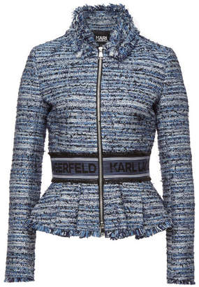 Karl Lagerfeld Boucle Jacket with Cotton