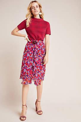 Anna Sui Petunia Ruffled Chiffon Skirt