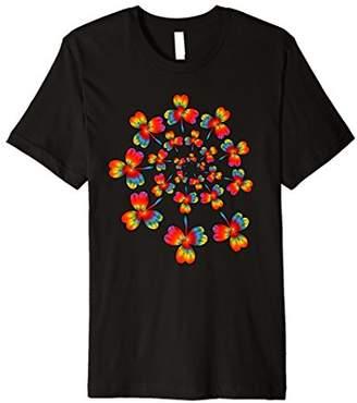 Tie Dye Shamrock Shirt   Spiral Irish Tie-Dyed T-shirt Gift