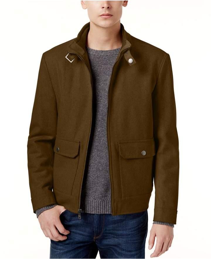 Kenneth Cole New York Wool-Blend Bomber Coat