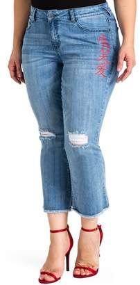 Standards & Practices Frayed Crop Flare Jeans