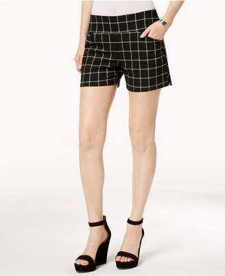 INC International Concepts I.n.c. Plaid Pull-On Shorts