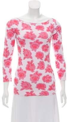Nina Ricci Long Sleeve Floral Top