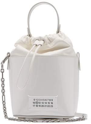 Maison Margiela Plastic Coated Bucket Bag - Womens - White