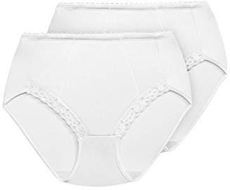 Exquisite Form Women's Plus Size Medium Control Shaper Brief Panty(Pack of 2)