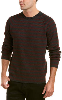 Vince Striped Wool & Cashmere-Blend Crew Sweater