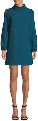Tahari ASL Cutout Sleeve Rolled-Neck Shift Dress