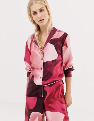 Ted Baker Porcelain Rose Printed Revere Pajama Top