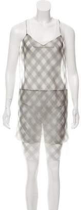 Marc Jacobs Sheer Plaid Dress