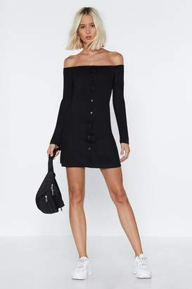 Nasty Gal If It Were Button-Down to Me Mini Dress
