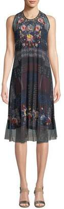 Johnny Was Faelyn Sleeveless Printed Dress