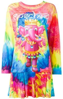 Moschino elephant tie dye effect dress