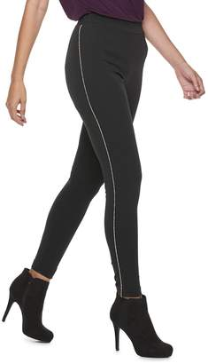 JLO by Jennifer Lopez Women's Embellished Ponte Leggings