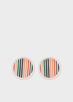 Paul Smith Men's Multi-Coloured Stripe Button Cover