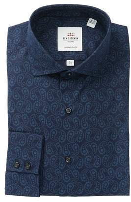 Ben Sherman Floral Paisley Slim Fit Dress Shirt
