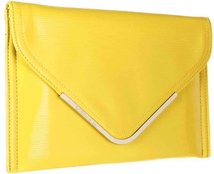 BCBGeneration Beverly Envelope Clutch (Lemon Ice) - Bags and Luggage