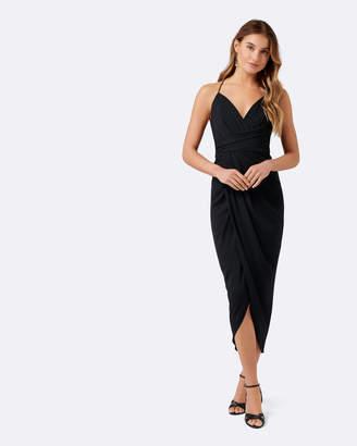 Charlotte Petite Drape Maxi Dress