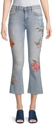 Driftwood Women's Roxy Rosey Embroidered Flared Jeans