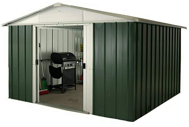 10 X 10 FT APEX METAL ROOF SHED WITH FLOOR FRAME