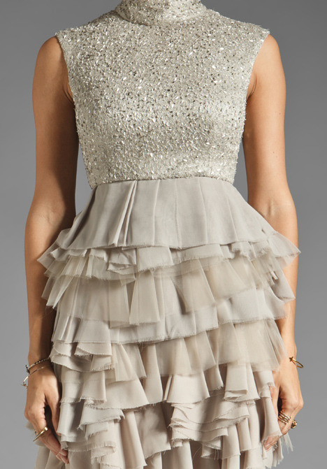 Alice + Olivia Hattie Lace Tiered Dress